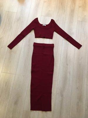 Vintage Dressing Abito di maglia bordeaux