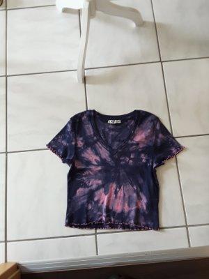 Hand made Camisa batik rosa-azul