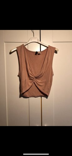 H&M Haut bustier rose chair