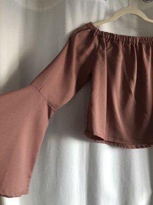 Nakd Carmen shirt stoffig roze-roze