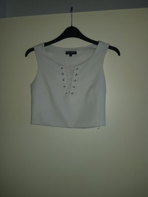 CoolCat Camisa acanalada blanco