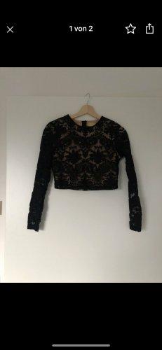 H&M Jersey largo negro-nude
