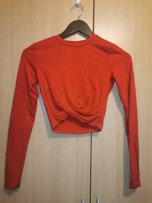 H&M Wraparound Shirt red