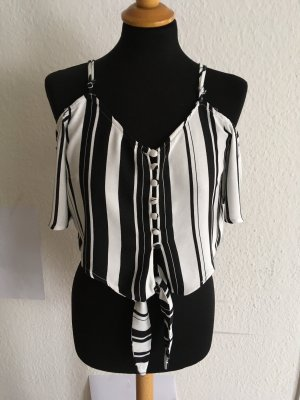 Page one Wraparound Blouse black-white