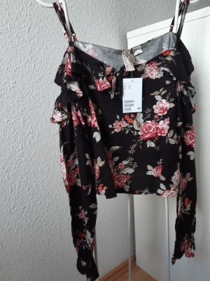 H&M Divided Carmen Shirt multicolored