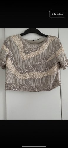 Cropped Shirt beige-cream