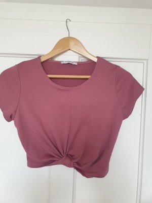 Glamorous Top o skróconym kroju różowy-szaro-liliowy