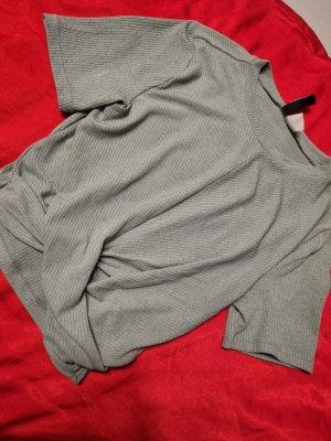 H&M T-shirt court gris vert
