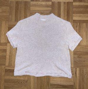 H&M Koszula o skróconym kroju w kolorze białej wełny