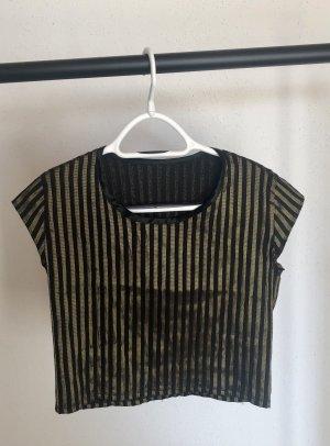 Vintage Cropped Shirt black-gold-colored