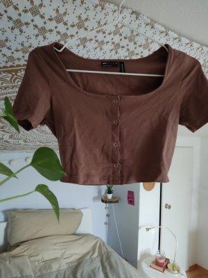 Asos Cropped Shirt light brown