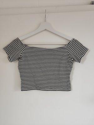 H&M T-shirt rayé blanc-noir