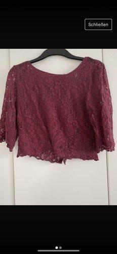 H&M Cropped Shirt bordeaux