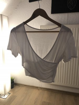 T-shirt col en V blanc