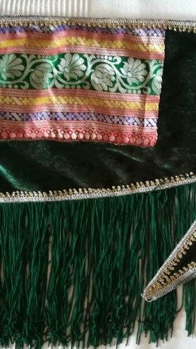 Cinturón de cadera color oro-verde bosque