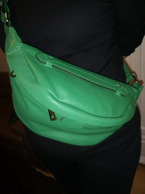 Bumbag green leather
