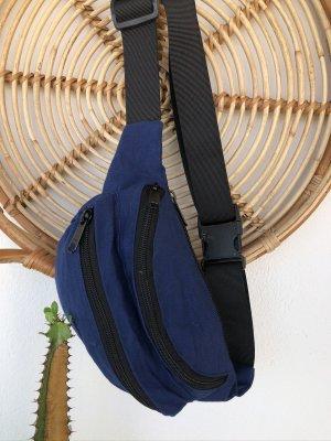 Handmade Buiktas blauw-zwart Katoen