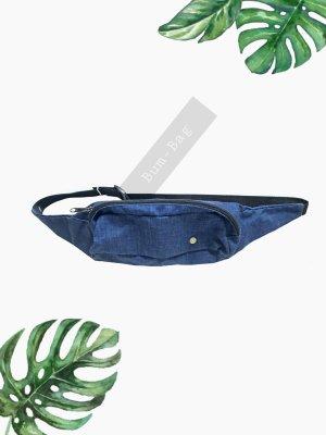 Bauchtasche gürteltasche blau muschibeutel bum bag dunkelblau unisex | Vintage | onesize