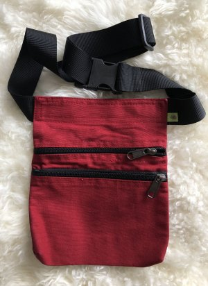 Ohne Bumbag dark red-black cotton
