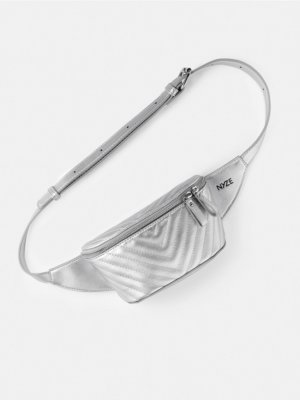 NYZE Bumbag silver-colored
