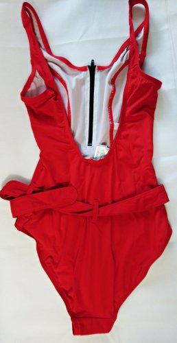 Bauchweg Badeanzug Rot