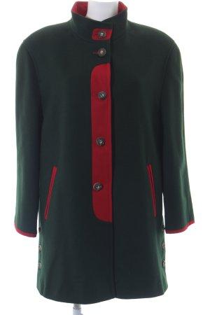 Bauer Fleecejacke dunkelgrün-rot klassischer Stil