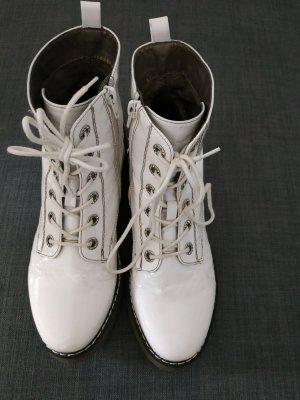 Chukka boot blanc tissu mixte
