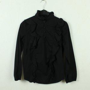 Baum & Pferdgarten Ruche blouse zwart Katoen