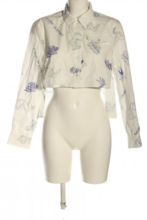 Baum und Pferdgarten Shirt Blouse cream-blue abstract pattern casual look