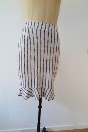 Baum und Pferdgarten Flared Skirt natural white-dark blue mixture fibre