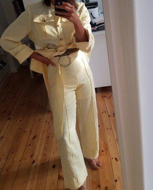 Baum und Pferdgarten Pantalone di lino giallo pallido-giallo chiaro