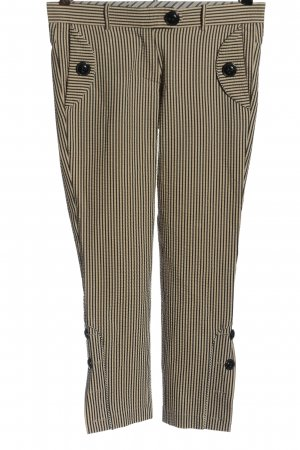 Baum und Pferdgarten Pantalone jersey nero-crema motivo a righe stile casual