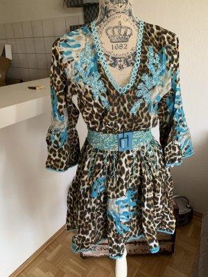 Antica Sartoria Sukienka tunika Wielokolorowy Bawełna