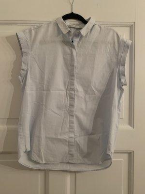Baumwoll Bluse mit Rückenfalte