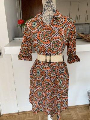 Antica Sartoria Sukienka koszulowa Wielokolorowy Bawełna