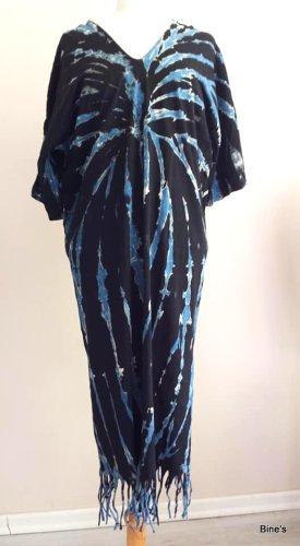 Aus Indien Sukienka boho niebieski-ciemnoniebieski