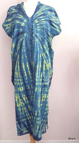 Aus Indien Sukienka boho niebieski Bawełna