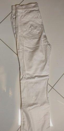 Steilmann Spodnie z pięcioma kieszeniami w kolorze białej wełny