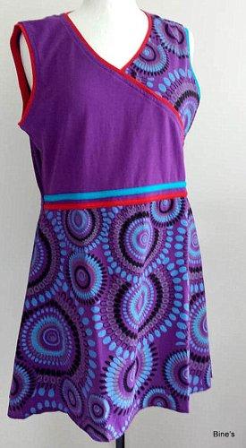 Aus Indien Sukienka boho ciemny fiolet-fioletowy