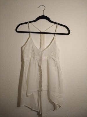 Trf by Zara Backless Top white cotton