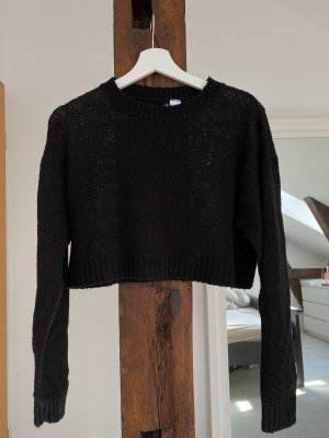 H&M Divided Wool Sweater black cotton