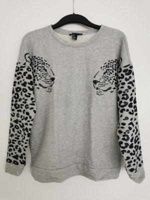 Baumwoll-Pullover mit Muster