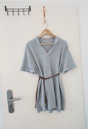 C&A Robe à manches courtes gris clair-gris coton