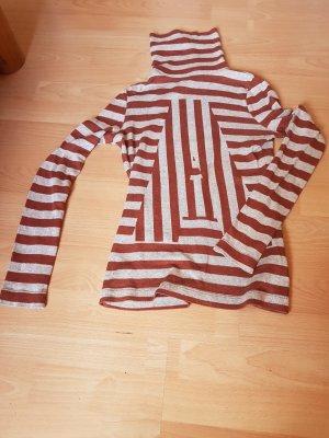 Baumwoll Streifen Rollkragenpulli von Zara