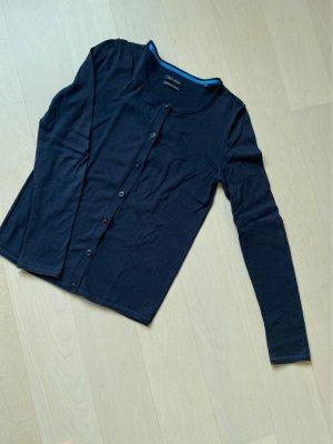 Baumwoll-Strickjacke Gr. XS dunkelblau/Marine