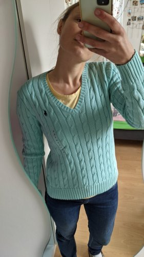 Polo Ralph Lauren Warkoczowy sweter Wielokolorowy