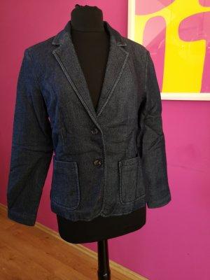 Hallhuber Blazer en jean bleu foncé coton