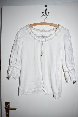 Ruffled Blouse white cotton