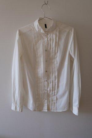 Benetton Long Sleeve Blouse white cotton