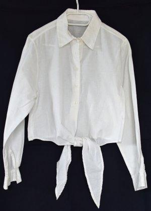 Wraparound Blouse white cotton